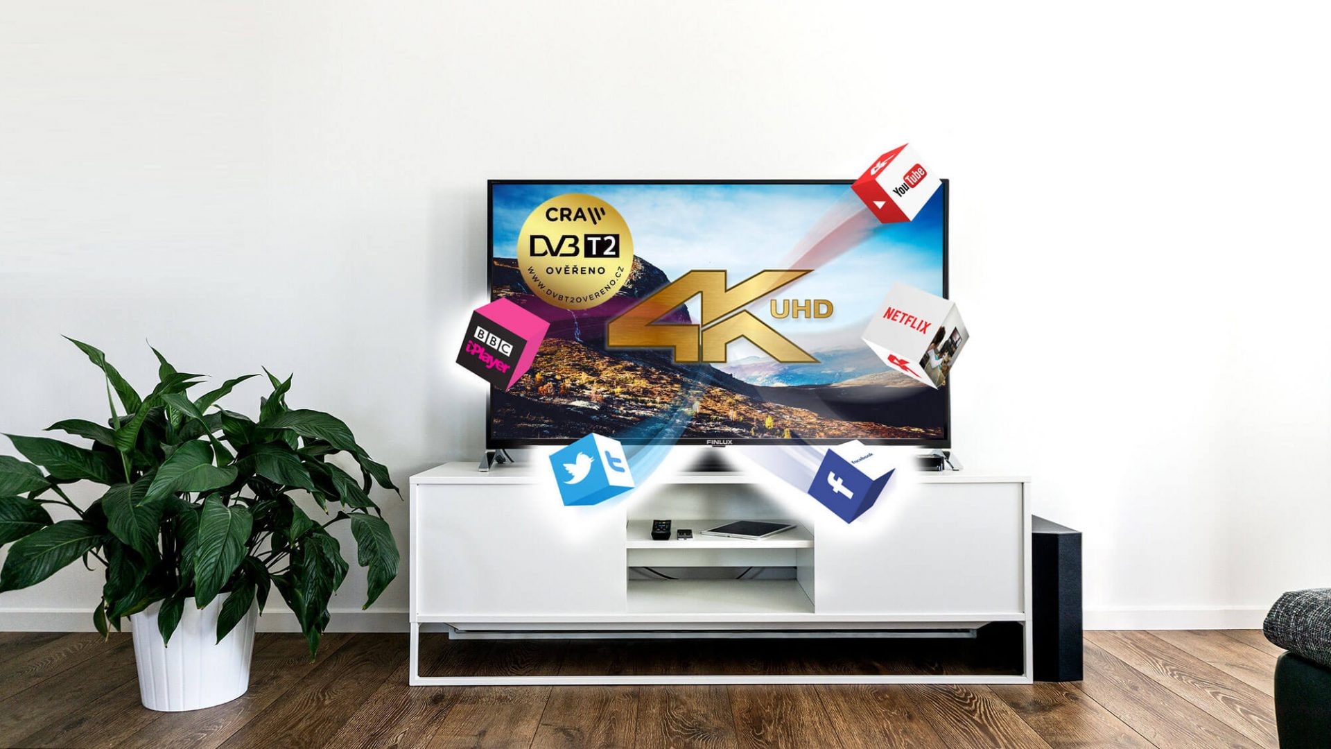 LED SMART TV 4K UHD DVB-T2 FINLUX
